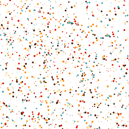 beige background: Vector multicolored chaotic points pattern. Modern stylish texture. Abstract background with a dots.