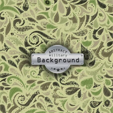 uniform curls: Camouflage military curly decorative pattern on a background. illustration, Stock Photo