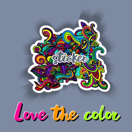 sketchy: Multicolor Pattern Doodles- Decorative Sketchy Notebook Design- Hand-Drawn Illustration Background.
