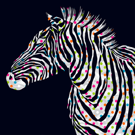 animal silhouette: The animal watercolor illustration silhouette zebra. illustration