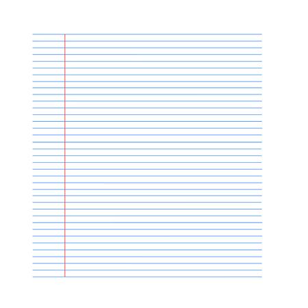 notebook paper background: notebook paper background. Paper in line. Vector illustration EPS Illustration