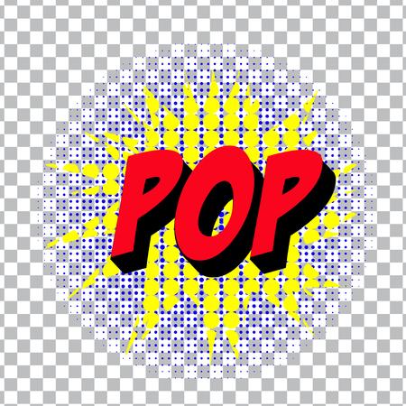 blasting: retro cartoon explosion pop art comic pop symbol. Vector EPS Illustration