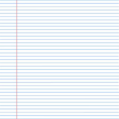notebook paper background. Paper in line. Vector illustration Illustration