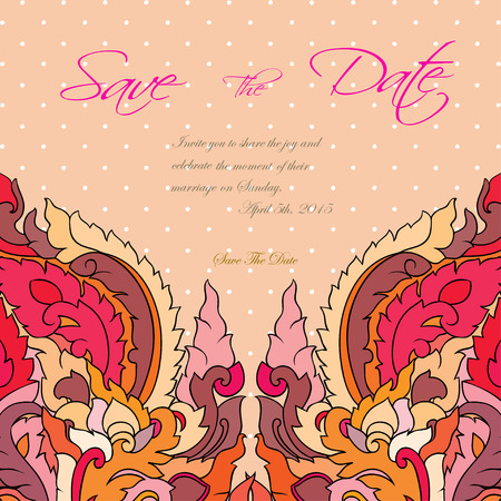 suite: wedding invitation card suite with thai ornament Templates. Vector EPS