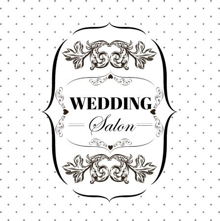 bridal salon: bridal salon signboard with ornamental elements on a background. Vector