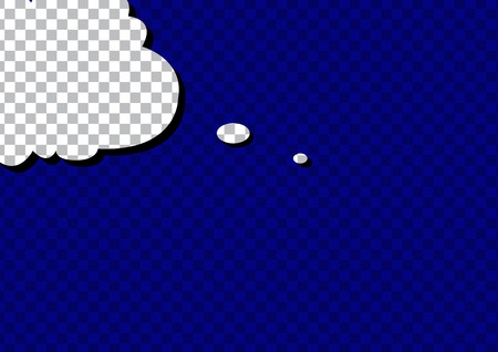 speech cloud: retro cartoon pop art comic sign speech cloud. Vector EPS Illustration