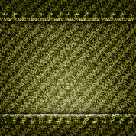 suede: Vector green jeans texture illustration. EPS 10.