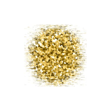 shimmer: Gold glitter circle texture isolated on background. Vector illustration for golden shimmer texture.