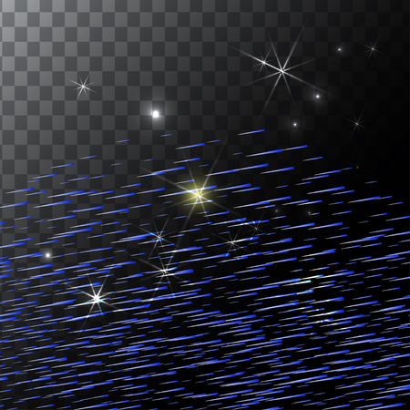 asteroid: Abstract Bright Falling Star - Shooting Star with Twinkling Star Trail on transparent Background - Meteoroid, Comet, Asteroid - Backdrop Vector Illustration Illustration