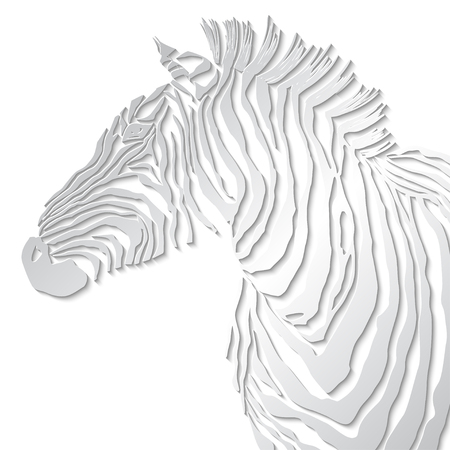animal silhouette: Animal illustration of vector zebra silhouette.