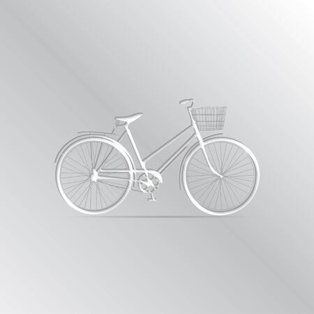 iconography: Vector white bicycle Icon on a gradient background.