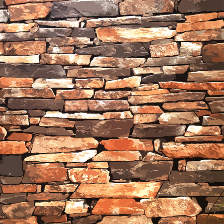 ancient brick wall: design element. Ancient brick wall texture.