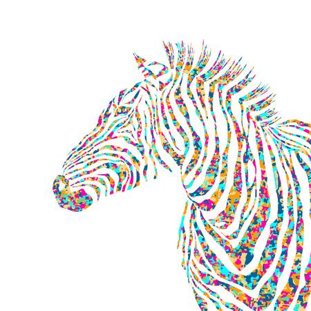animal silhouette: Animal pazzle shapes illustration silhouette cute zebra. Illustration