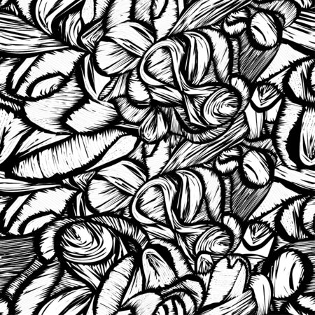 cut logs: Seamless shapes hand-drawn pattern, spots background.