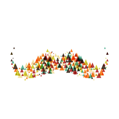 mustaches: hipster Mustaches with triangles elements. Vector