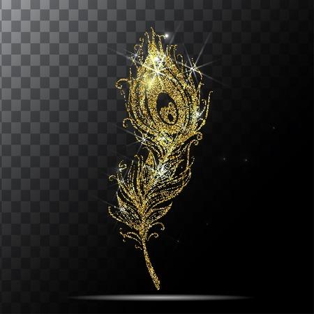 Plume de paon dans le vecteur de fond transparent. Banque d'images - 59956442