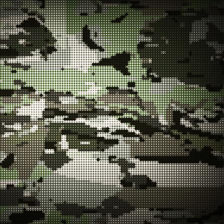 Camouflage militaire motif tramé fond. Vector illustration