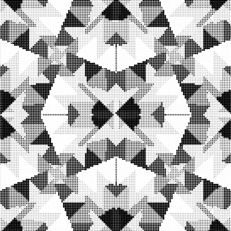 borders abstract: geometric ornament Halftone vector illustration background.