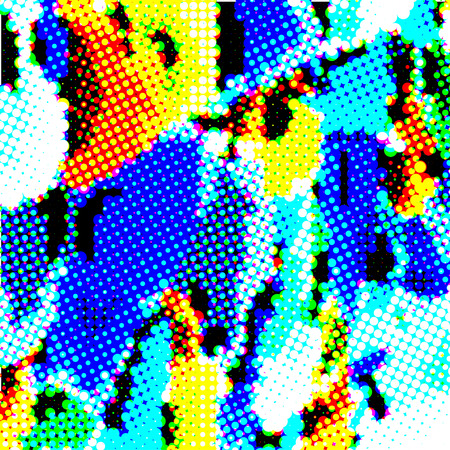 Halftone of vector multicolored illustration background