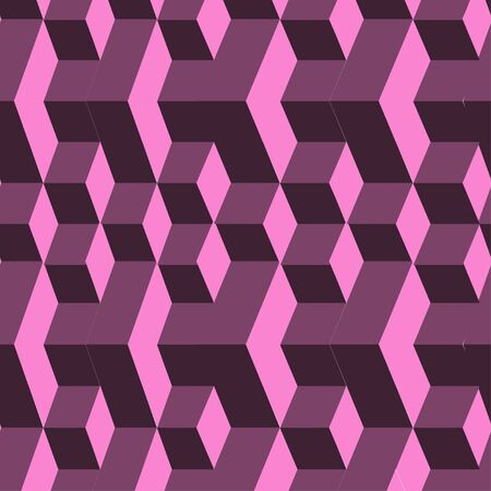 Isometric cubes seamlessly repeatable pattern. 3D background.