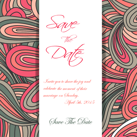 scetch: Hand drawn doodles pattern invitation. Scetch of background with abstract shapes illustration.