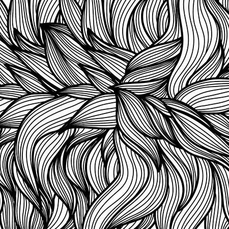 scetch: Hand drawn leaves pattern. Scetch of background with abstract shapes illustration. Illustration
