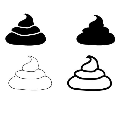 shit: Set of Shit . Icons and Illustration Illustration
