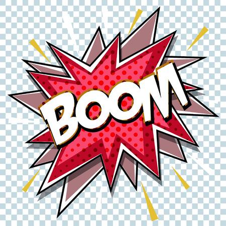Dessin animé comique de dessin animé pour explosion fond de boîte de dialogue explosion avec son BOOM. Vecteur Banque d'images - 84956245