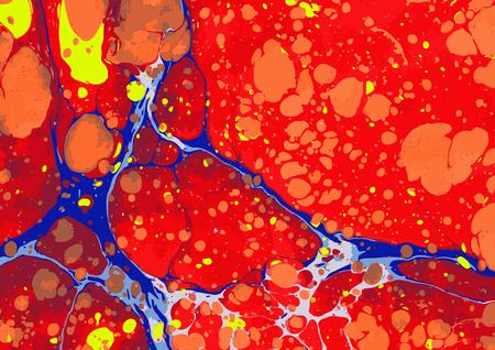 marble ebru colorful pattern background. Vector illustration.