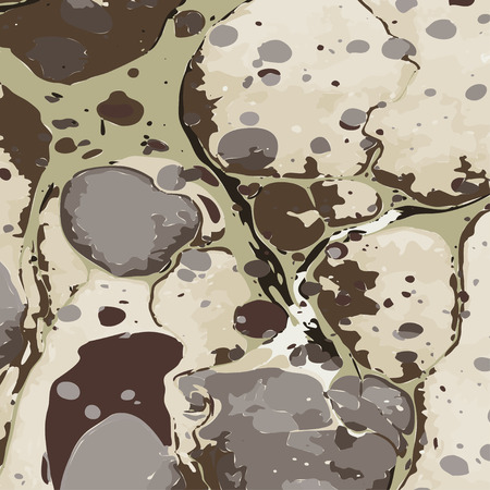Military camouflage liquid painting ebru background. Vector