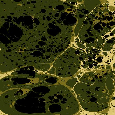 Military camouflage liquid painting background. Illustration
