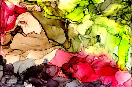 Alcohol ink texture. Fluid ink abstract background. art for design Standard-Bild