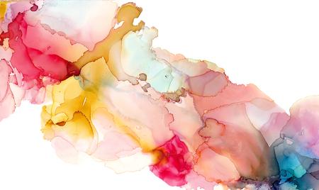 Alkohol Tinte Textur. Flüssiger Tintenauszugshintergrund. Kunst für Design Standard-Bild
