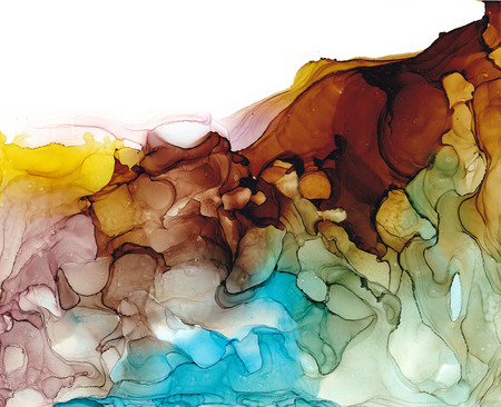 Alcohol ink air texture. Fluid ink abstract background. art for design.