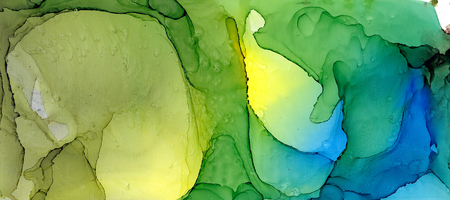 Alcohol ink multicolor texture. Fluid ink abstract background. art for design. 스톡 콘텐츠 - 121400942
