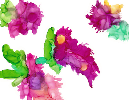 Alcohol ink multicolor flowers. Fluid ink abstract background. art for design Stok Fotoğraf