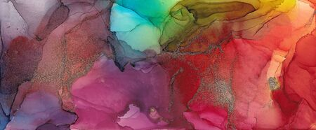 Alcohol ink multicolor texture. Fluid ink abstract background. art for design 스톡 콘텐츠 - 130167368