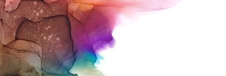 Alcohol ink multicolor texture. Fluid ink abstract background. art for design 스톡 콘텐츠 - 130167369