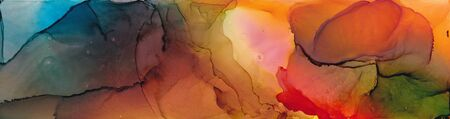 Alcohol ink multicolor texture. Fluid ink abstract background. art for design 스톡 콘텐츠 - 130167376