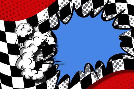 speech bubble pop art,comic book background illustration 스톡 콘텐츠 - 130948908