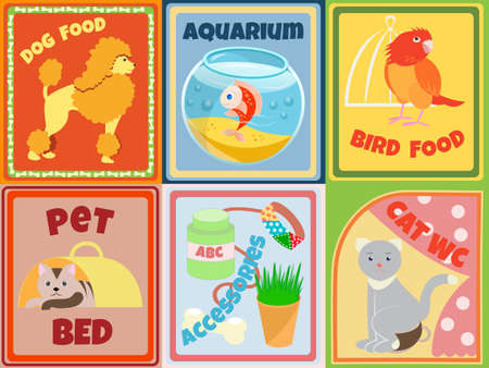 Set of animals and accessories for Pet Shop Vector