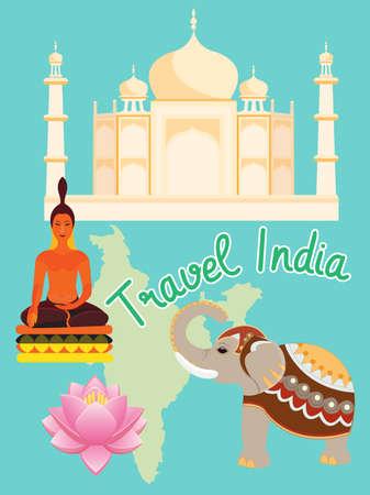 Travel Concept India.Vector Illustration