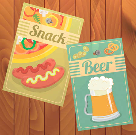pistachios: Beer and Snack. Shrimp, pizza, pistachios, pretzels and sausages with mustard and ketchup to beer