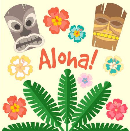 Hawaii Aloha Poster. Vector illustration