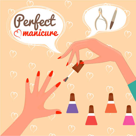 french manicure: Perfect manicure. Beauty concept. Gift certificate. Glamur Disign.