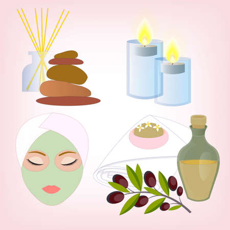 massage stones: Beauty Salon Accessories. Olive Oil Soap, Face and Body Care. Burning Candles and Massage Stones.