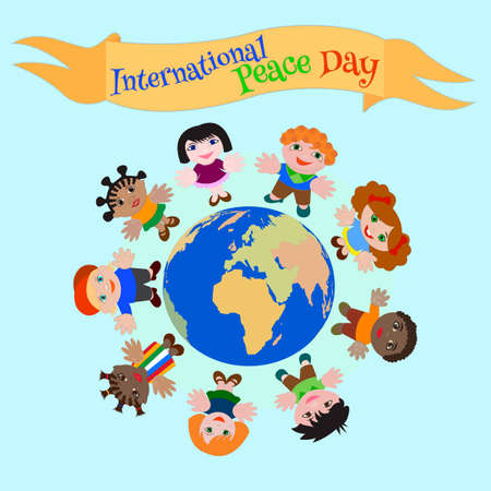 nationalities: International Peace Day ?hildren of different nationalities for the Peace on Earth