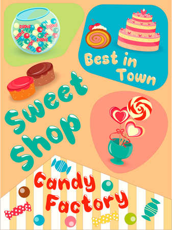 sweet shop: Cakes and Candies in the Sweet Shop the Best in Town