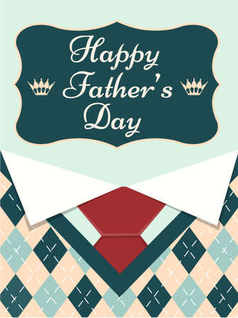 Happy Father's Day Greeting Card Vector illustration Illustration