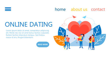 web page design templates for finding a partner and soul mate, online dating service, romantic meetings